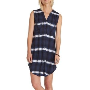 Element tie-dye sleeveless shirt dress